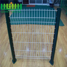 Metal Welded 3D Triangle Curved Wire Garden Fence