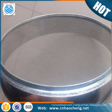 In stock full height 50 60 100 150 micron stainless steel test sieve