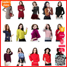 2016 nuevo diseño 100% algodón punto chaqueta de punto de las mujeres