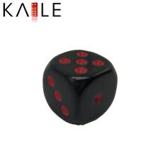 15mm Round Corner Custom Black with Hot Dots Dice