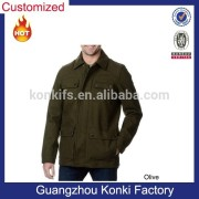 Street Men's Military Style Water-resistant Coat