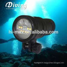Rechargeable Led Flashlight Scuba Photographic Lamp Portable Video Light