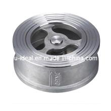 Válvulas de retención de doble disco de la válvula unidireccional a la abrazadera