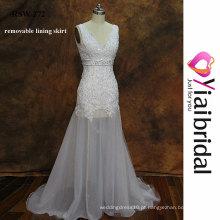 RSW272 Vestidos de casamento Saia removível Veja