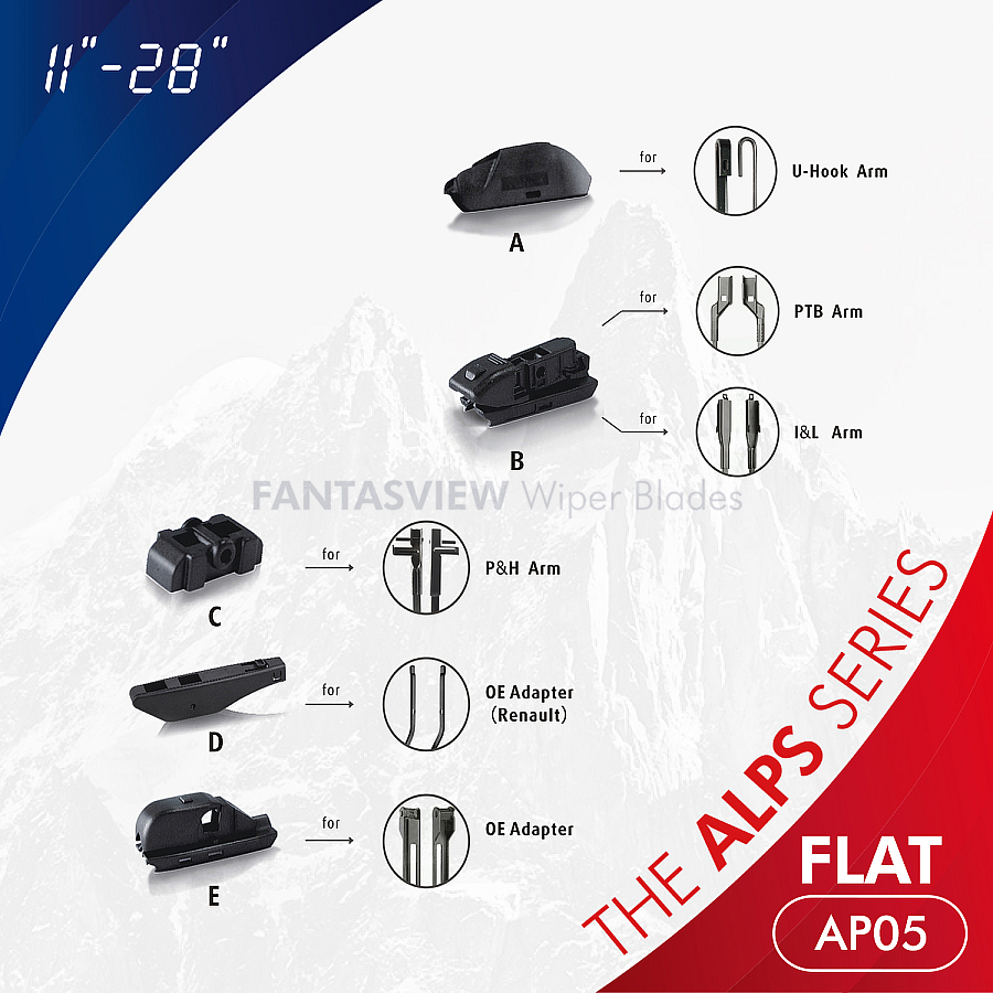 Las Series Alpes Serie Multi-Function Soft Wiper Blades