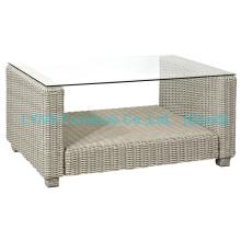 Mesa de café Rattan para conjunto de sofá de jardim
