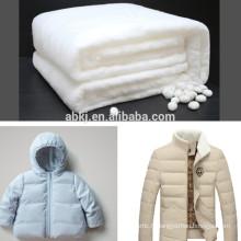 Ouate de soie non tissée pour veste d'hiver de haute qualité