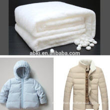 Non Woven silk wadding for high quality winter jacket