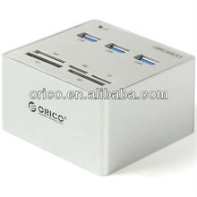 ORICO 3H3C USB3.0 HUB and Card Reader All in One for OEM, USB3.0 Aluminum HUB; card reader hub