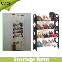 Plegable resistente al agua plegable Heavy Storage 4 Tier Plastic Rack Shoe