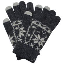 Mode Kaninchenfell Gestrickte Touch Screen Handschuhe (YKY5458)