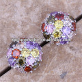 Mais recente projeto cubic zirconia stud earrings ear cuff