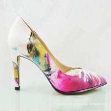 Nouveau style dames de mode chaussures talons hauts talons hauts (OLY16311-9)
