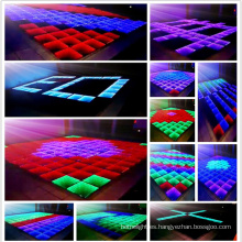 Colorido LED Digital Dance Tempered Glass Floor en Wedding Party LED Dance.