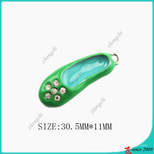 Green Enamel Shoes Necklace Charm Pendant (SPE)
