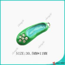 Esmalte verde sapatos colar pingente charme (SPE)
