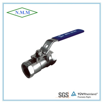 Reduced Bore, Threaded End, 1PC Stainless Steel Ball Valve in 1000wog