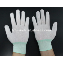 13 gauge nylon working gloves coated with PVC dots on palm