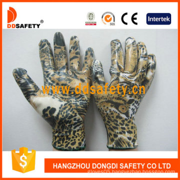 White Nylon with Eagle Design Shell Glove-Dnn357