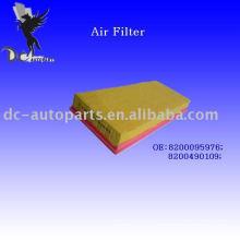Filtro de aire plisado principal del panel
