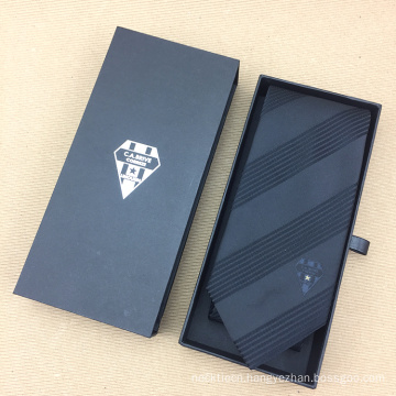 Polyester Woven Custom Embroidered Promotional Tie with Drawer Gift Box