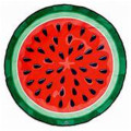 Tie Dye Red Dot Designer Round Beach Towel