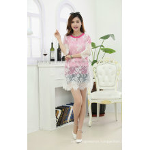 3/4 Sleeve Round Neck Sweet Lace Dress
