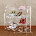 Manufacturer new model floor metal 4 tiers shoe display rack holder for retail
