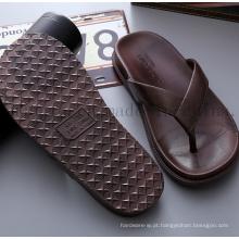 Chinelos de homem macio moda EVA logotipo do OEM Flip Flop
