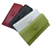 Bolso del monedero de la carpeta del cuero genuino (EWD-003)