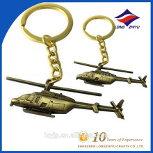 Antique Gold Plating Fashion Airplane Design Keychain