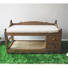 antique solid wood sofa storage cushion cheap comfortable footstool