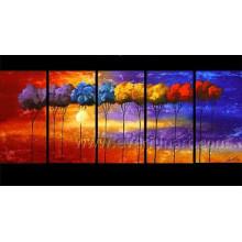 Peinture à l'huile de paysage décoratif à la main