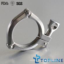 Pinças sanitárias de aço inoxidável de 3 segmentos