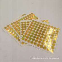 logotipo personalizado de impresión láser de oro a través de la etiqueta adhesiva de holograma