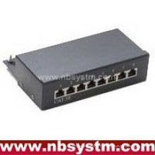 8 ports STP Cat5e Patch Panel 1U, Krone IDC