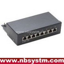 8 portas STP Cat5e Patch Panel 1U, Krone IDC