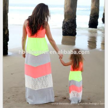 Sommer Stil passende Mutter Tochter Kleidung Mutter und Tochter Kleider Familie Aussehen Kleidung Mama und mich Kleidung