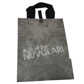Color Printed Paper Gift Shopping Bag with Button