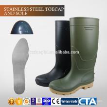 JX-AL966 CE Китай Экологичные водонепроницаемые пластиковые дешевые сапоги дождя и защитную обувь