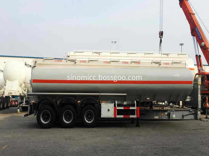 3 Axle Sinomicc Fuel Tank Semi Trailer