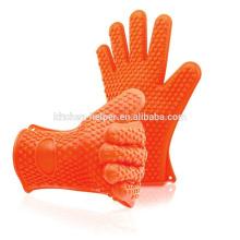 Großhandel kundenspezifische Silikon Barbecue Backen Grillen Kochen Handschuhe / Silikon Grill Ofen BBQ Handschuh / Ofen Mitt