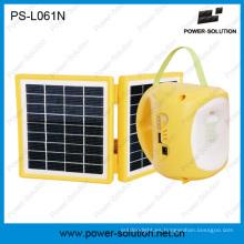 Linterna ahorro de energía solar 2W con batería recargable 4500mAh