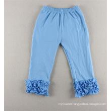 2015 colorful 100%cotton children wholesale ruffle pants western baby ruffle pants