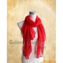 Модные вышитые шелковые шарфы