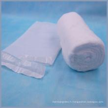 PE sac emballé des rouleaux de coton médical
