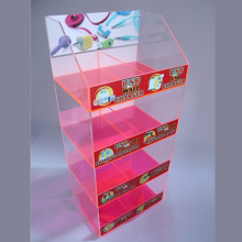Caja de colores opcional Acrylic Mobile Accessories Display