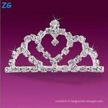 Peignoirs de mariage en cristal luxueux, peignes de cheveux en cristal élégant, peigne français