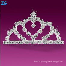 Luxuoso pentes de casamento de cristal, pentes de cabelo elegante cristal, pente francês