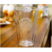 Doppelte Wand-Glas-Kaffeetasse Tee-Schalen-Förderung-Geschenke